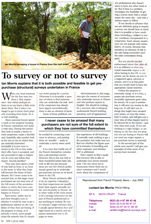 To Survey or Not Survey - French Property News